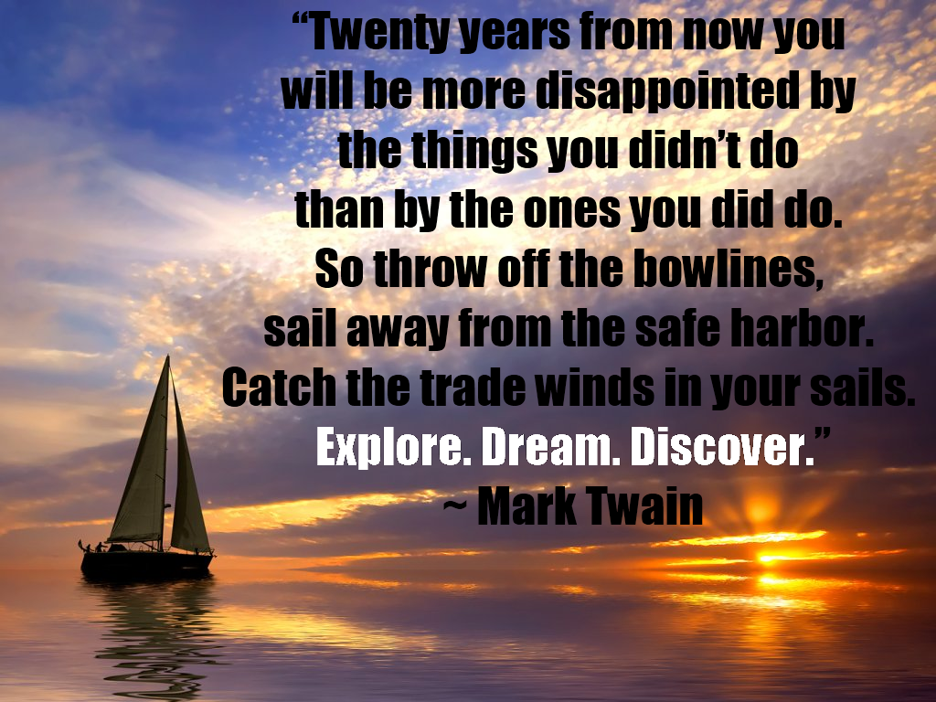 travel quotes mark twain explore dream discover